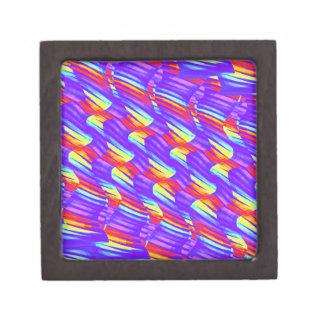 Colorful Bright Purple Wave Twists Artwork Premium Gift Boxes
