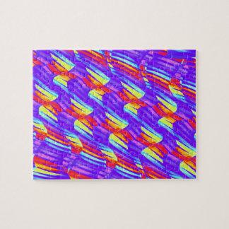 Colorful Bright Purple Wave Twists Artwork Jigsaw Puzzle