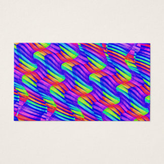 Colorful Bright Rainbow Wave Twists Artwork Business Card