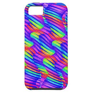Colorful Bright Rainbow Wave Twists Artwork iPhone SE/5/5s Case