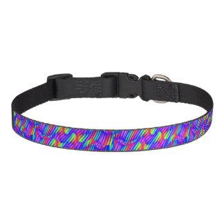 Colorful Bright Rainbow Wave Twists Artwork Pet Collar