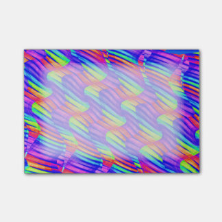 Colorful Bright Rainbow Wave Twists Artwork Post-it Notes