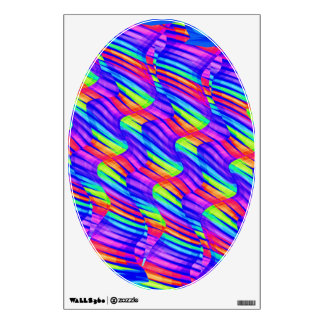 Colorful Bright Rainbow Wave Twists Artwork Wall Decal