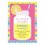 Colorful Bright Summer Lemonade Birthday Party Card