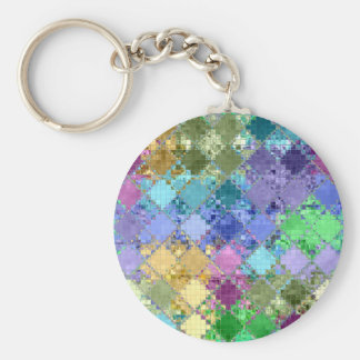 Colorful Bright Unique & Customizable Basic Round Button Keychain