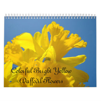 Colorful Bright Yellow Daffodil Flowers Calendar