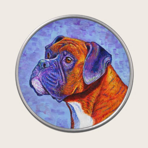 Colorful Brindle Boxer Dog Candy Tin
