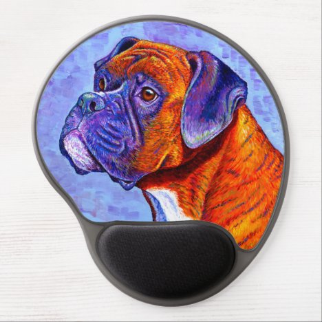 Colorful Brindle Boxer Dog Gel Mousepad