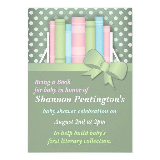 colorful bring a book baby shower invitations zazzle
