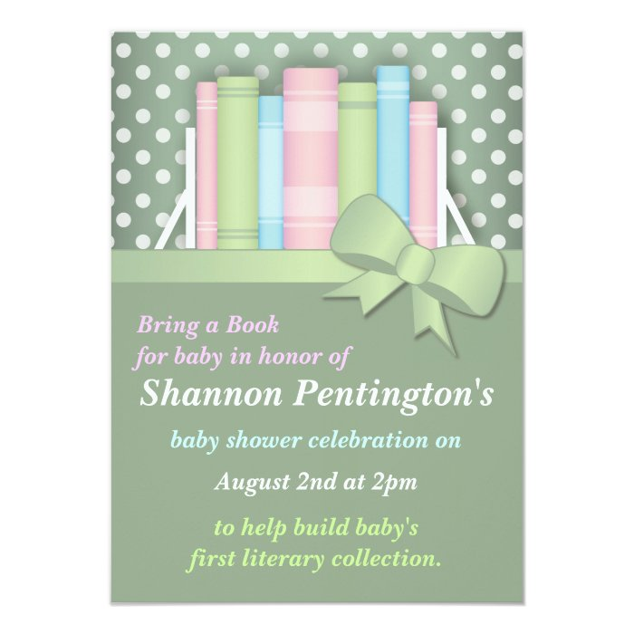 colorful bring a book baby shower invitations zazzle