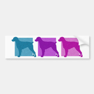 Colorful Brittany Spaniel Silhouettes Bumper Sticker