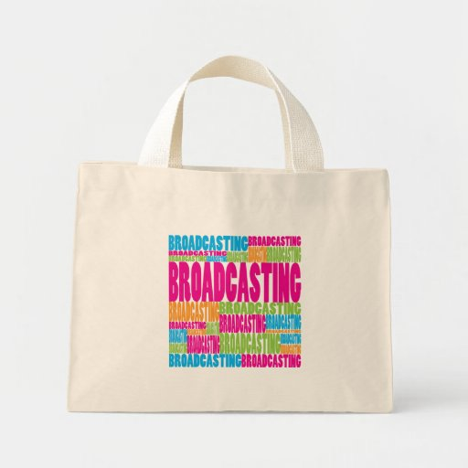 Colorful Broadcasting Canvas Bags