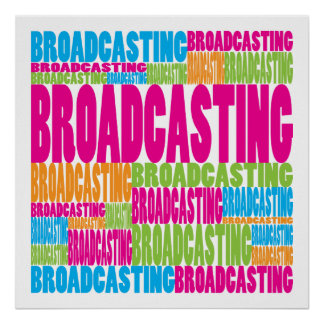 Colorful Broadcasting Poster
