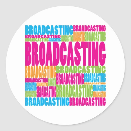 Colorful Broadcasting Round Stickers