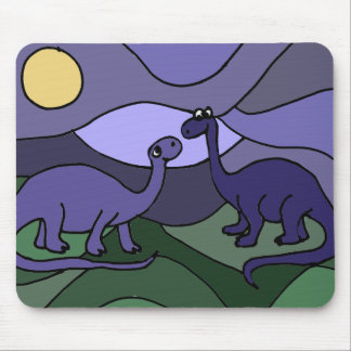 Colorful Brontosaurus Dinosaur Art Mouse Pad
