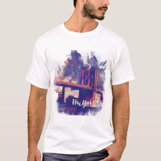 Colorful Brooklyn Bridge Illustration T-Shirt