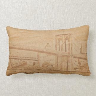 Colorful Brooklyn Bridge Pillow