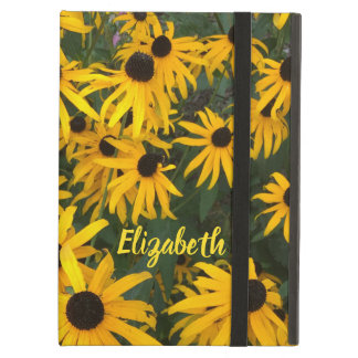Colorful Brown Eyed Susans and Name iPad Air Case