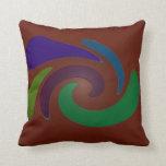 Colorful brown pop art pillows
