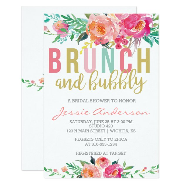 Make Bridal Shower Invitations with best invitation template