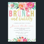 """Colorful Brunch &amp; Bubbly bridal shower invitation<br><div class=""""desc"""">Such a bright and colorful way to invite guests to the bride-to-be&#39;s celebration</div>"""