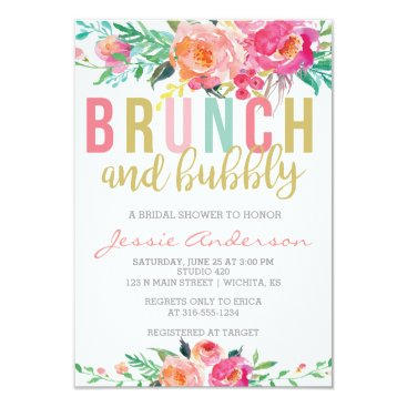 SimpleandStunning2 Colorful Brunch & Bubbly bridal shower invitation