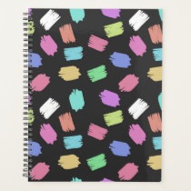 Colorful Brush Strokes - Blue Green Pink Purple Planner