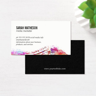 Colorful  Brushed Texture Business Card