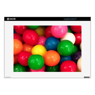 Colorful Bubble Gum Gumballs Laptop Decals