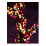Colorful Bubble Lights Postcard