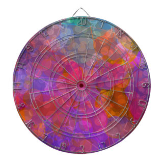 Colorful Bubble Pattern Design Dartboard With Darts