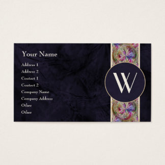 Colorful Bubble Pattern Ribbon, Monogrammed Business Card