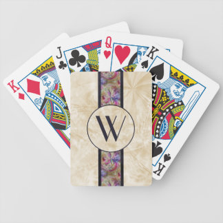 Colorful Bubble Pattern Ribbon, Monogrammed Bicycle Playing Cards