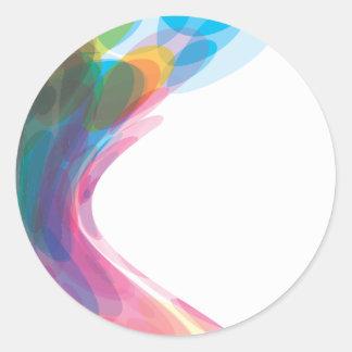 colorful-bubbles-4 2 round sticker