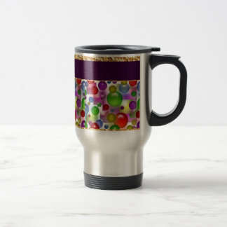 Colorful Bubbles And Squares 15 Oz Stainless Steel Travel Mug