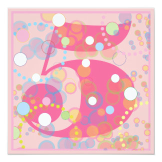 Colorful Bubbles Any Age Birthday Party Invitation
