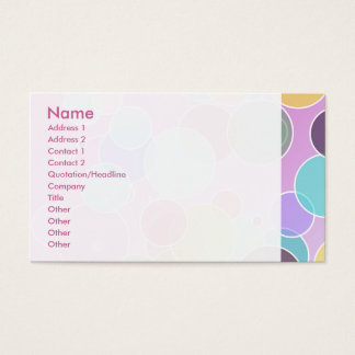 Colorful bubbles business card