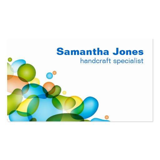 Colorful Bubbles business card