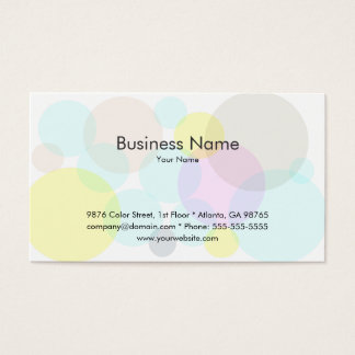 Colorful Bubbles Business Card Template