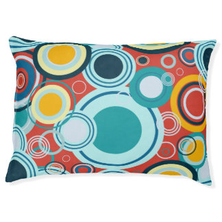 Colorful Bubbles Dog Bed