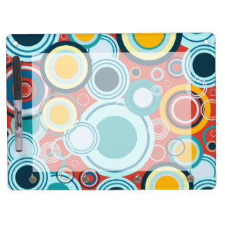 Colorful Bubbles Dry Erase Board With Keychain Holder