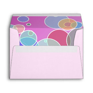 Colorful bubbles envelope