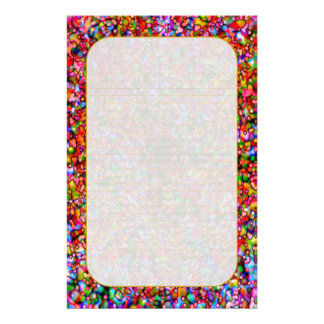 """""""Colorful Bubbles"""" Fine Lined Stationery"""