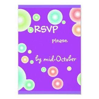 Colorful Bubbles 3.5x5 Paper Invitation Card