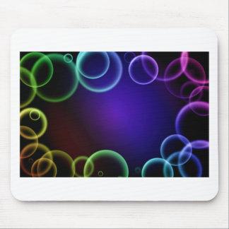 Colorful bubbles mouse pad