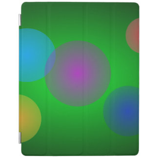 Colorful Bubbles on Dark Green iPad Cover