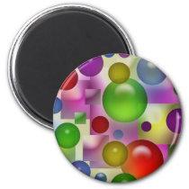 Colorful Bubbles Pattern Magnet