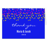 Colorful Bubbles Personal Thank You Card, Blue