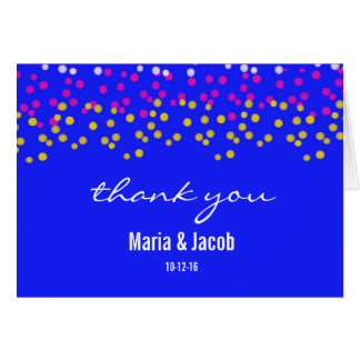 Colorful Bubbles Personal Thank You Card, Blue Card