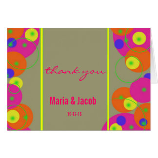Colorful Bubbles Personal Thank You Note Card